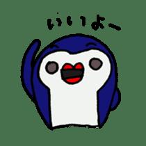 lips penguin sticker #1308100