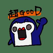 lips penguin sticker #1308103
