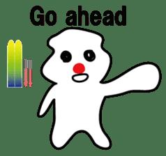 POKKUN go skiing for ski resort in Eng sticker #1309313