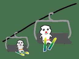 POKKUN go skiing for ski resort in Eng sticker #1309314