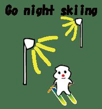POKKUN go skiing for ski resort in Eng sticker #1309318