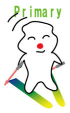POKKUN go skiing for ski resort in Eng sticker #1309321