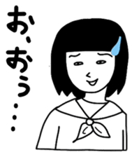 Japanese High School GIRL sticker #1316064