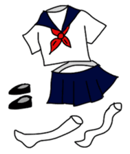 Japanese High School GIRL sticker #1316093