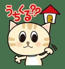 Kitten and Little bird sticker #1321227