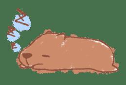 Graffiti animal of capybara and cat sticker #1323346