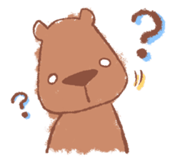 Graffiti animal of capybara and cat sticker #1323350
