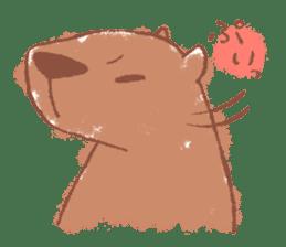 Graffiti animal of capybara and cat sticker #1323353