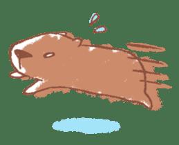 Graffiti animal of capybara and cat sticker #1323355