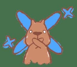 Graffiti animal of capybara and cat sticker #1323357