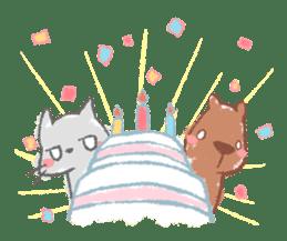Graffiti animal of capybara and cat sticker #1323359