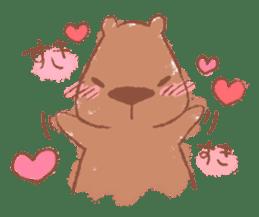 Graffiti animal of capybara and cat sticker #1323363