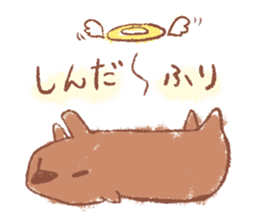 Graffiti animal of capybara and cat sticker #1323367
