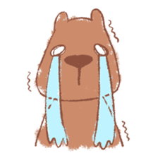 Graffiti animal of capybara and cat sticker #1323369