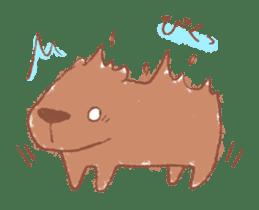 Graffiti animal of capybara and cat sticker #1323377