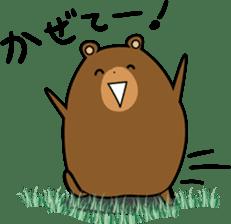 Hokkaido dialect (Bear series) sticker #1327179