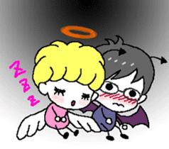 Devil and Angel sticker #1327619