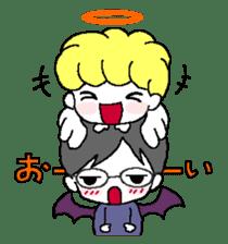 Devil and Angel sticker #1327621