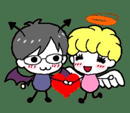 Devil and Angel sticker #1327622