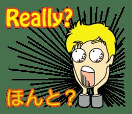 English & Japanese conversation sticker sticker #1329233
