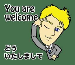 English & Japanese conversation sticker sticker #1329257