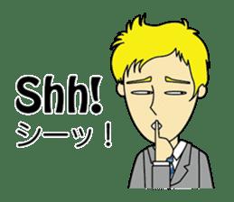 English & Japanese conversation sticker sticker #1329265