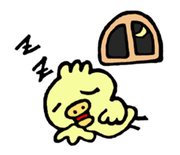 Chick of the pig nose sticker #1333149