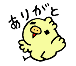 Chick of the pig nose sticker #1333152