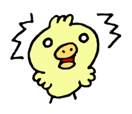 Chick of the pig nose sticker #1333158