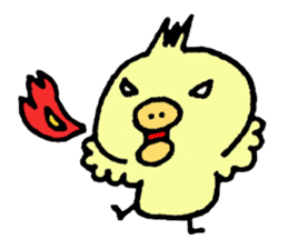 Chick of the pig nose sticker #1333177