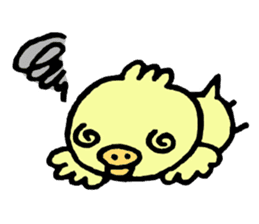 Chick of the pig nose sticker #1333178