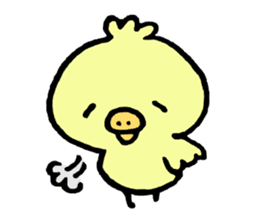 Chick of the pig nose sticker #1333181