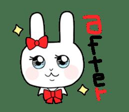high school girl rabbit sticker #1333667