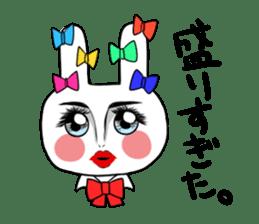 high school girl rabbit sticker #1333668