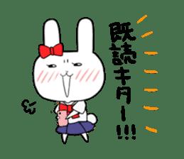 high school girl rabbit sticker #1333669