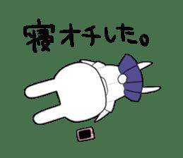 high school girl rabbit sticker #1333673
