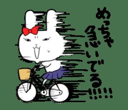 high school girl rabbit sticker #1333681