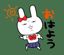 high school girl rabbit sticker #1333682