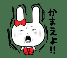 high school girl rabbit sticker #1333688