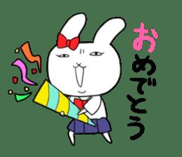 high school girl rabbit sticker #1333691