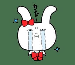 high school girl rabbit sticker #1333694