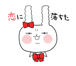 high school girl rabbit sticker #1333701