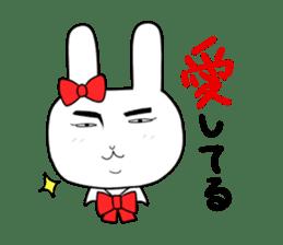 high school girl rabbit sticker #1333703