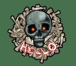 The skull sticker sticker #1334306
