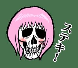 The skull sticker sticker #1334313