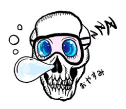 The skull sticker sticker #1334322