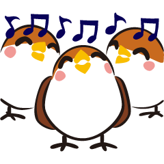 Three Sparrows ( overaction ver. )