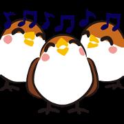 สติ๊กเกอร์ไลน์ Three Sparrows ( overaction ver. )