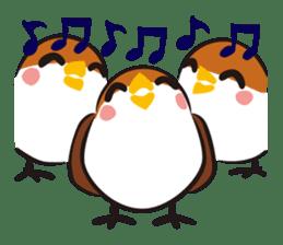 Three Sparrows ( overaction ver. ) sticker #1336428