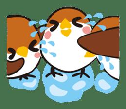 Three Sparrows ( overaction ver. ) sticker #1336429